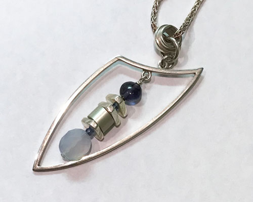 Necklace - Chalcedony and Iolite