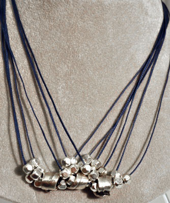 Slim Denim Twine Necklace