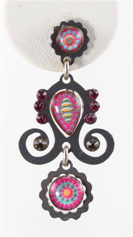 Yoolie Pink Drop Earrings