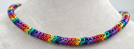 Chainmaille Necklace - Arcadia Rainbow
