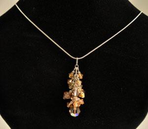 Crystal Drop Pendant - Raz Golden