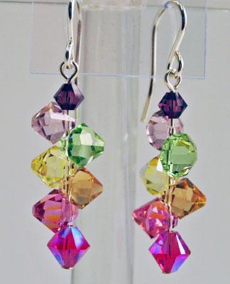 Crystal Drop Earrings - Veggie