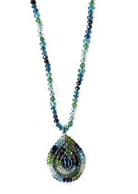 London Teal Mixed Stones Necklace