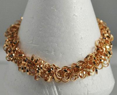 Rose Gold Dangling Circles Bracelet