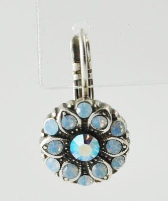 Blue Crystal Flower Earring