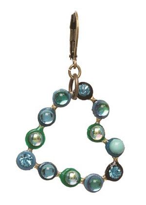Heart Earrings - Blues-Greens