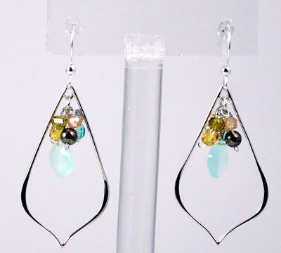 Oria Petal Gemstone Earrings