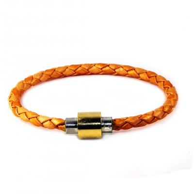 Single Leather Bracelet - Rose Gold