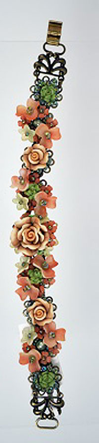 Salmon Rose Bracelet
