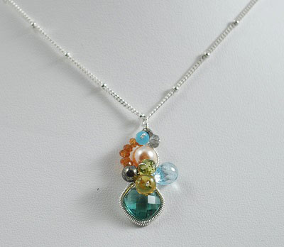 Emerald Quartz Baby Bella Necklace