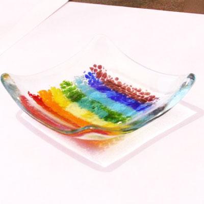 Rainbow Glass Mini Tray