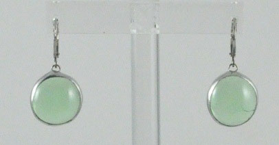 Light Green Stained Glass Earring