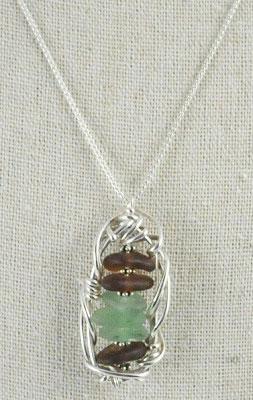 Seaglass Framework Necklace by Carolyn Roche