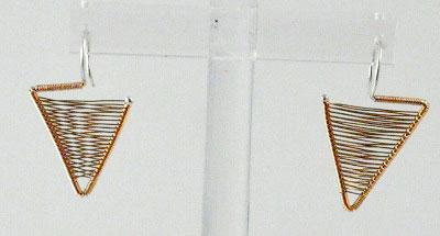 Shield Earrings - Rose gold