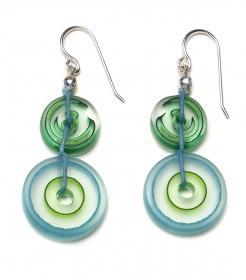 Spring Mermaid Glass Earrings