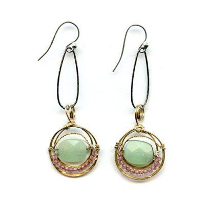 Jade Hand-Formed Earring