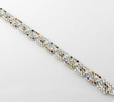 Filigree Squares Link Bracelet