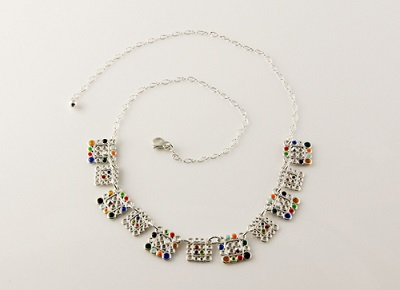 Filigree Squares Necklace
