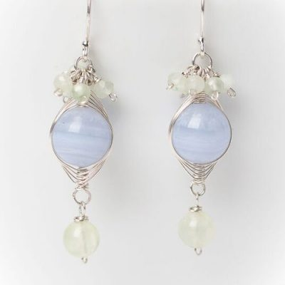 Morning Dew Blue Lace Earring