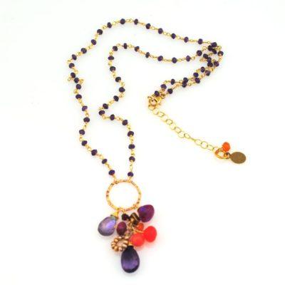 Havana Nights Gemstone Cluster Necklace