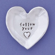 Pewter Charm Bowl - Follow Your Heart