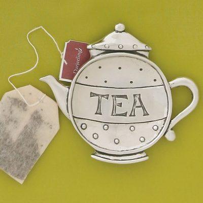 Pewter Teapot Teabag Holder