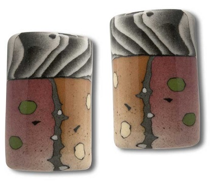 Porcelain Earrings - Saddle