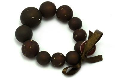 Large Bead Stretch Bracelet - Strauss Cascade 759