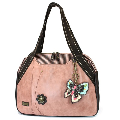 Bowling Bag Style Purse - Butterfly