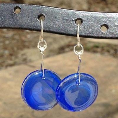Wispy Blue LollyDrop Earrings