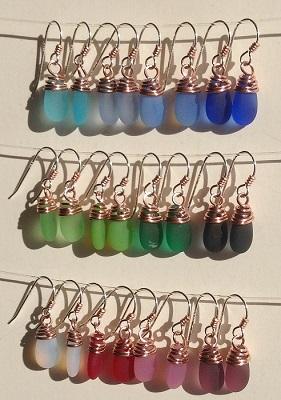 Copper Mermaid Tear Earring
