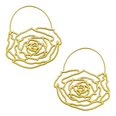 20K Gold Plated Blossom Small Hoop