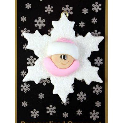 Starflake Baby Ornament - Boy or Girl