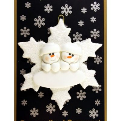 Snowflake Couple Ornament