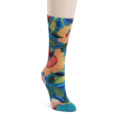 Adult Mid-Calf Socks - French Garden