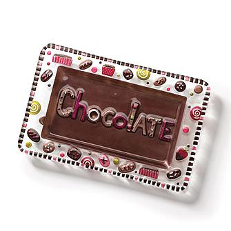 Chocolate Glass Fusion Platter