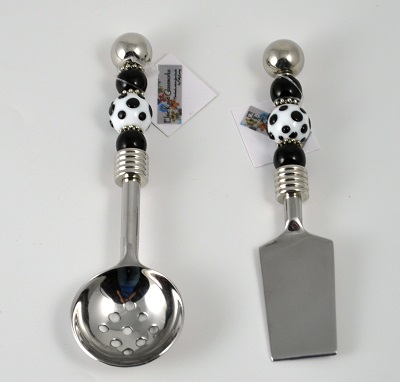 Mini Spreader - Salsa/Berry Spoon - Black and Whit