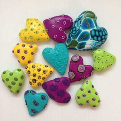 Polymer Heart Magnets - Assorted