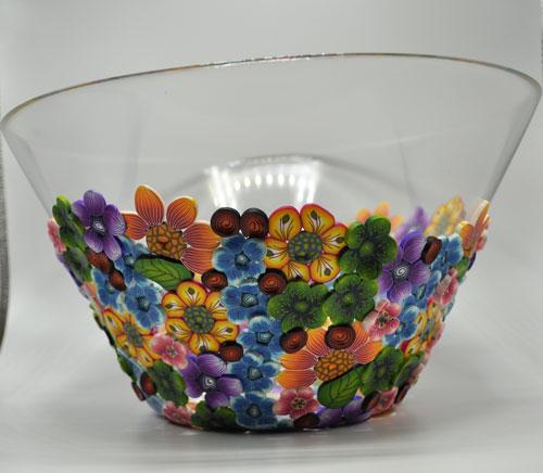 Polymer Large Salad Bowl - Tropical