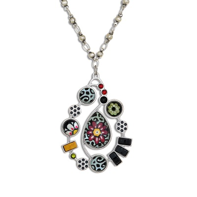 Yoolie Red Flower Necklace