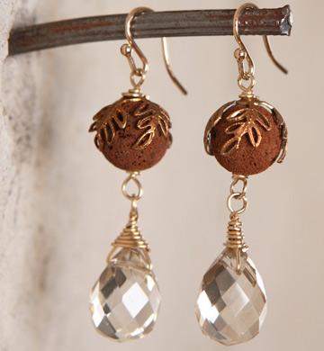 Red Lava Earrings