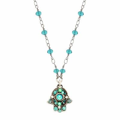 Blue Crystals Hamsa