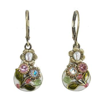 Floral Enamel Earring