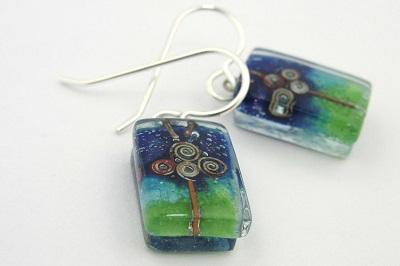 Dream Tree Glass Earrings