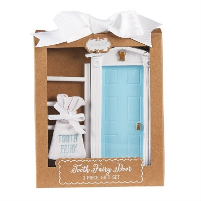 Blue Tooth Fairy Door and Ladder Set