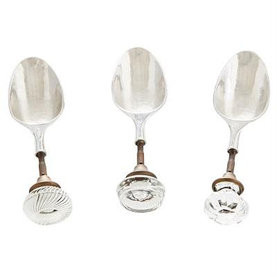 Circa Glass Knob Ice Scoop