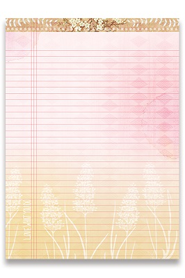 Pink Dawn Lovely Legal Pad