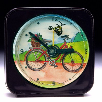 Child's Travel Alarm Clock - Bicycle