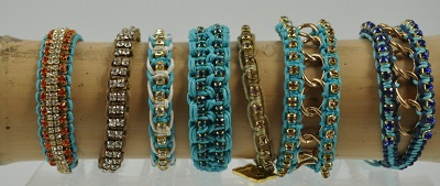 Turquoise Woven Bracelets by Rose Gonzales