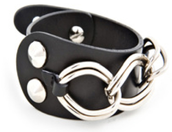 Black Leather Adjustable Bracelet